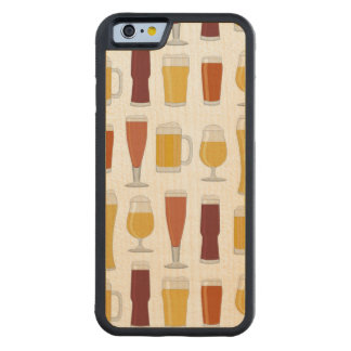 Beer Lover Print Carved® Maple iPhone 6 Bumper Case