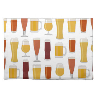 Beer Lover Print Cloth Placemat