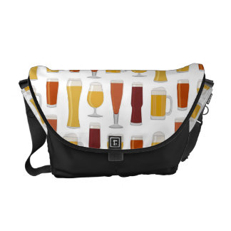 Beer Lover Print Courier Bag