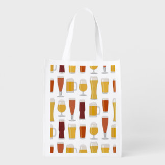 Beer Lover Print Grocery Bag