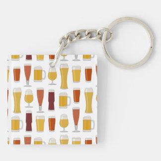 Beer Lover Print Keychain