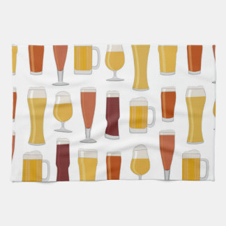Beer Lover Print Kitchen Towels