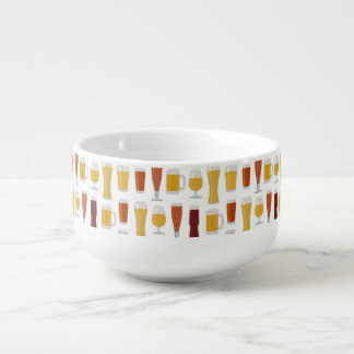 Beer Lover Print Soup Mug