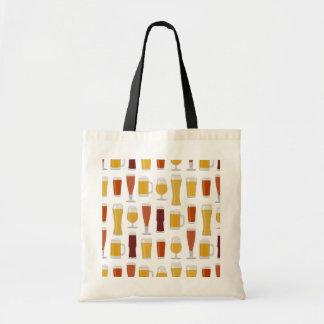 Beer Lover Print Tote Bag