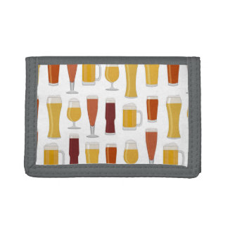 Beer Lover Print Trifold Wallet