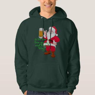 beer lover santa christmas sweatshirt fake news