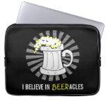 Beer Lovers Believe in Beeracles Laptop Computer Sleeves