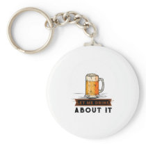 Beer Lovers Funny Drinking Keychain