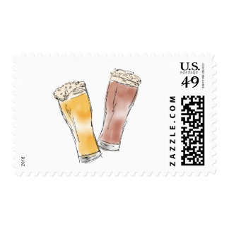 Beer Lovers Postage Stamps