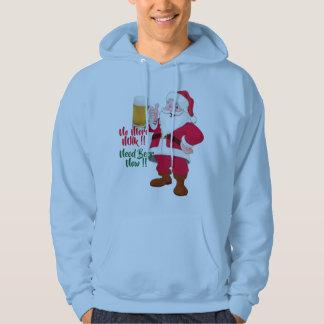 beer lovers santa christmas mens hoodies