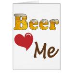 Beer Loves Me Card