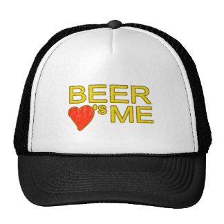 Beer loves me funny party keg drinking fun trucker hat