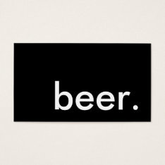beer. loyalty punch card at Zazzle