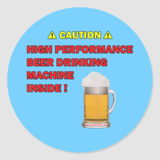 Beer Machine Classic Round Sticker