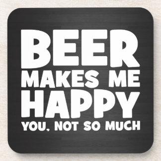 Beer Make Me Happy - Funny Novelty Beer Beverage Coaster