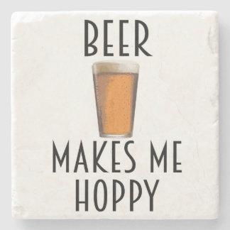 Beer Makes Me Hoppy Coaster Bar Quote Pun
