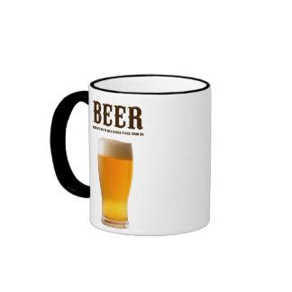 Beer: Making white men dance since 3000 BC Ringer Coffee Mug