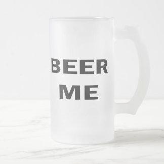 Beer Me 16 Oz Frosted Glass Beer Mug