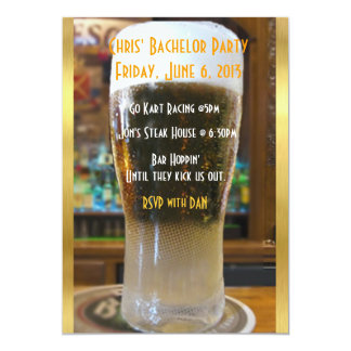 Beer me Bachelor party 5x7 Paper Invitation Card