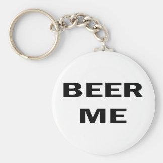 Beer Me Basic Round Button Keychain