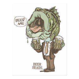 Beer Me Bass by Mudge Studios Postcard