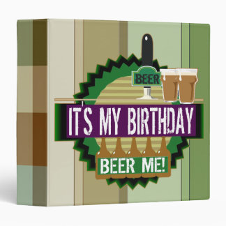 Beer Me Birthday Avery Binder