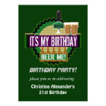 Beer Me Birthday Party Invitations