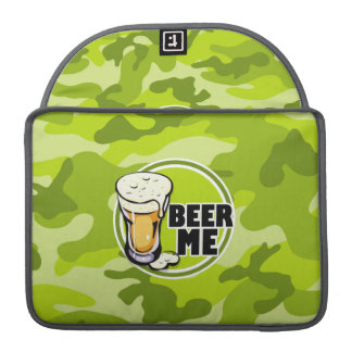 Beer Me!  bright green camo, camouflage Sleeve For MacBooks
