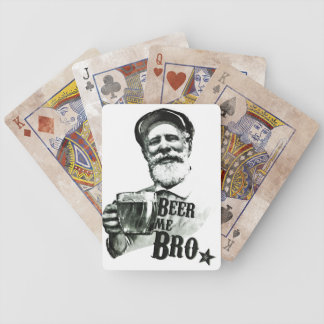 Beer me Bro Bicycle Playing Cards