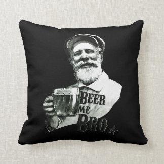 Beer me Bro Throw Pillow