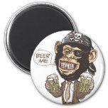 Beer Me Chimp Pirate by Mudge Studios Magnet