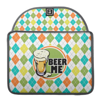 Beer Me!  Colorful Argyle Pattern Sleeve For MacBook Pro