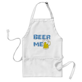 beer me funny adult apron