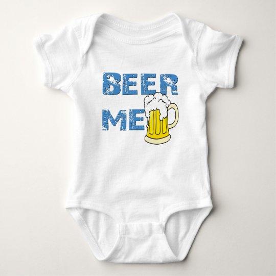 beer me funny baby bodysuit