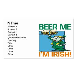 Beer Me Im Irish Business Card Templates