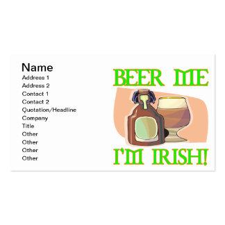 Beer Me Im Irish Business Card Template