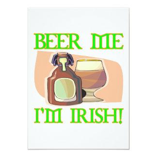 Beer Me Im Irish 5x7 Paper Invitation Card