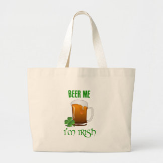 Beer Me I'm Irish Large Tote Bag