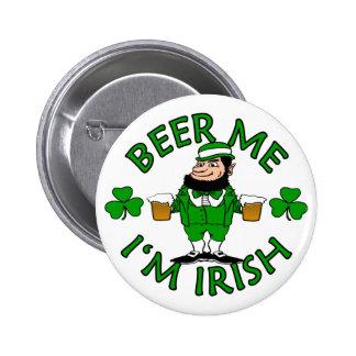 Beer Me I'm Irish Pinback Button