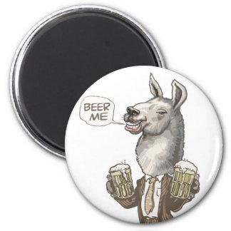 Beer Me Llama by Mudge Studios Magnet