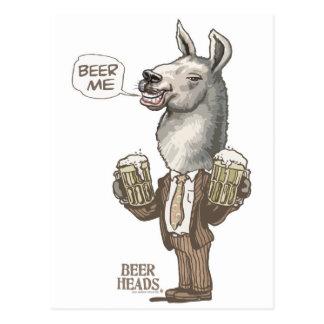 Beer Me Llama by Mudge Studios Postcard