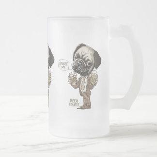 Beer Me Pug by Mudge Studios Coffee Mugs