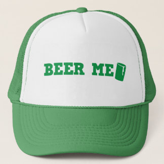 BEER ME St Patricks day green design Trucker Hat