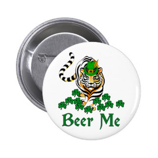 Beer Me Tiger Pinback Button