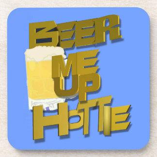 beer me up hottie drink coaster