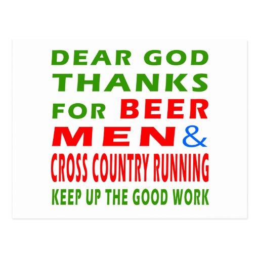 Beer Men And Cross Country Run Postcards