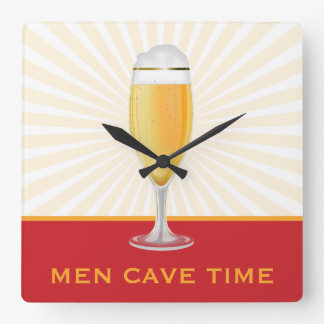 Beer Men Cave Time Clock