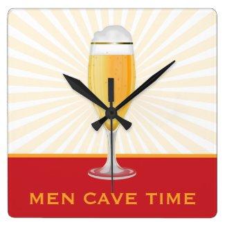 Beer Men Cave Time Clock