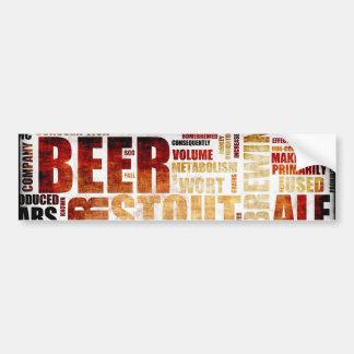 Beer Menu Background Bumper Sticker