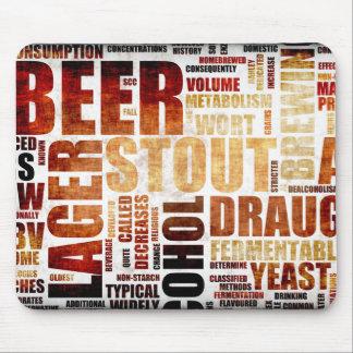 Beer Menu Background Mouse Pad